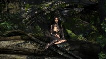 Alone in a deep dark forest (nudity)