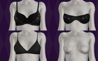 Original bra selection from the lingerie game