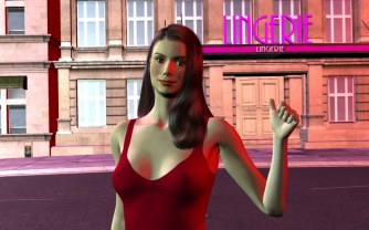 Classic Ariane outside the lingerie store in version 7