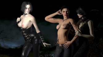 """Black"" (Vampire Stripper, Veronica, Goth Cosplayer)"